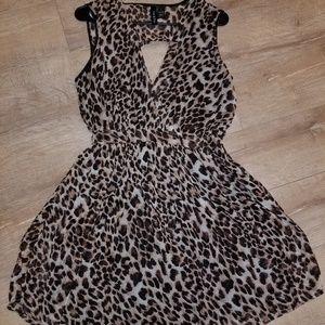 Fun & Flirt leopard print fit and flare dress